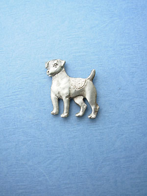 Standing Jack Russell Lapel Pin - Lead Free Pewter