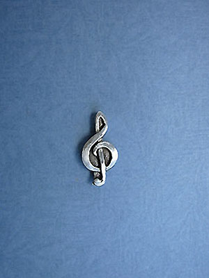 Treble Clef Lapel Pin - Lead Free Pewter