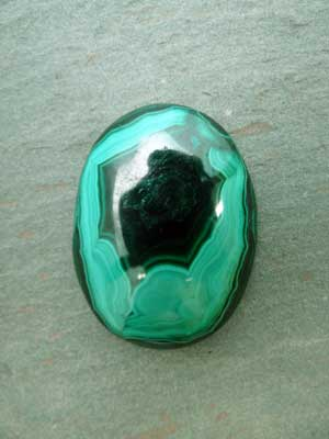 30x40mm Malachite Oval Cabochon