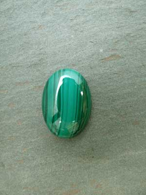 18x25mm Malachite Oval Cabochon