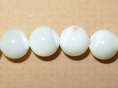 """8mm Round Mother of Pearl - 16"""" Strand"""