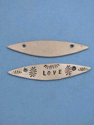 Pointed Pewter Stamping Blank - Lead Free Pewter
