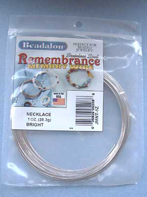Necklace Stainless Steel Memory Wire Round 1oz pkg.