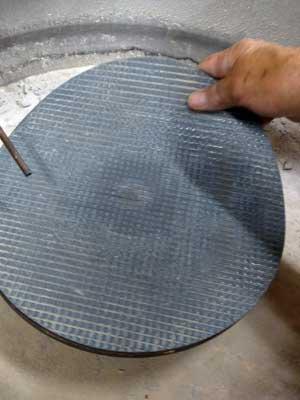 """Magnetic Nova Lap for Lapping - 600 grit, 8"""" Lap"""