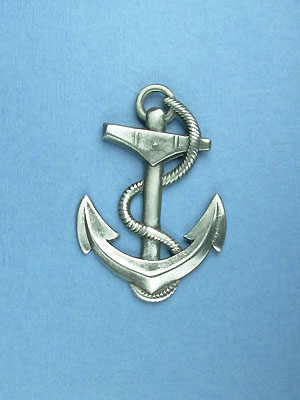 Anchor w/rope Brooch - Lead Free Pewter