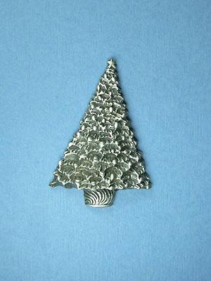 Christmas Tree  Brooch - Lead Free Pewter