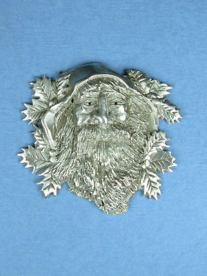 St. Nickolas's Face Brooch - Lead Free Pewter