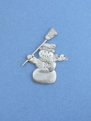 Snowman Brooch - Lead Free Pewter