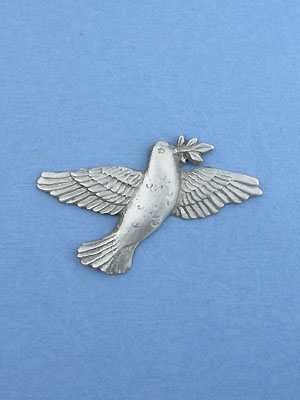 Dove Of Peace Brooch - Lead Free Pewter