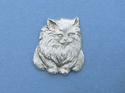 Fluffy Cat - Lead Free Pewter