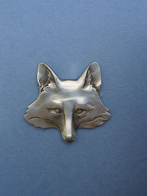 Fox Head Brooch - Lead Free Pewter