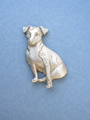 Sitting Jack Russell Brooch - Lead Free Pewter