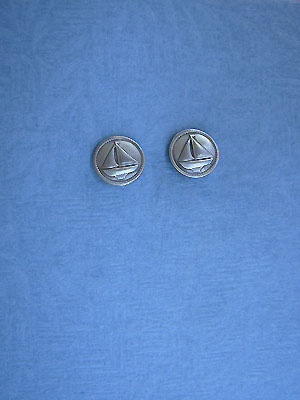 Small Sailing Ship Earrings - Lead Free Pewter
