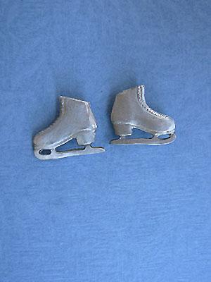 Figure Skate Earrings Lead Free Pewter