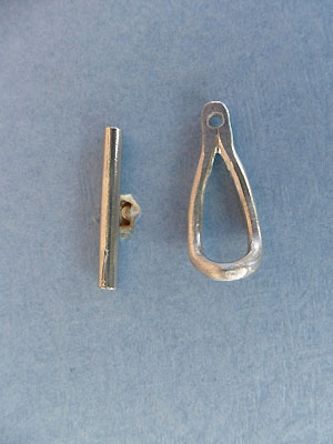 Bent Teardrop Toggle - Lead Free Pewter