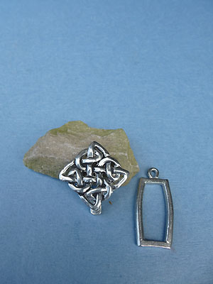 Knot of Transformation Pewter Button Toggle