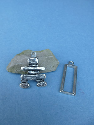 Inukshuk Pewter Button Toggle