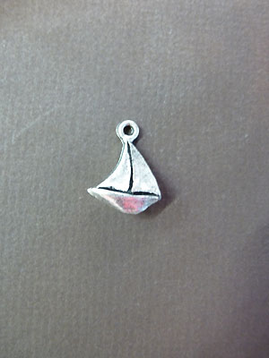 Sailing Ship Mini-Pewter Charm - Lead Free Pewter