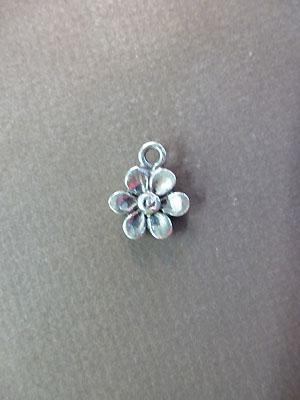 Flower Mini-Charm - Lead Free Pewter