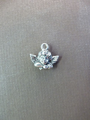 Cherub Mini-Charm - Lead Free Pewter