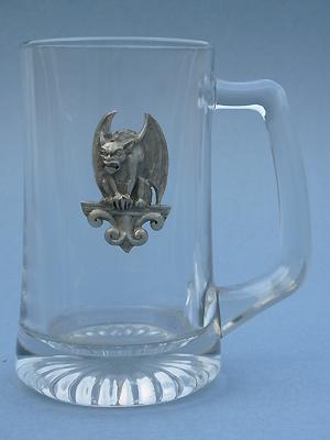 Gargoyle Perched Beer Mug - Lead Free Pewter