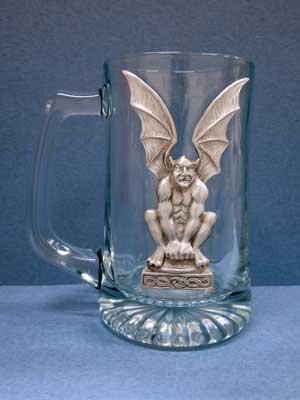 Lg. Gargoyle Flying Beer Mug - Lead Free Pewter