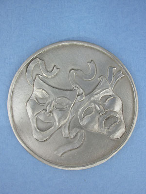 Comedy & Tragedy Coaster - Lead Free Pewter