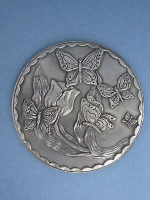 Butterfly Coaster - Lead Free Pewter