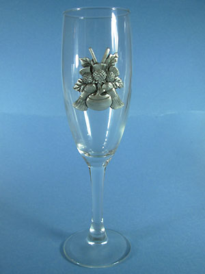 Curling Champagne Glass - Lead Free Pewter