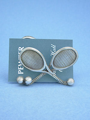 Tennis Card Holder - Lead Free Pewter