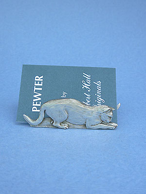 Prowling cat busines card holder lead free pewter business card prowling cat busines card holder lead free pewter colourmoves