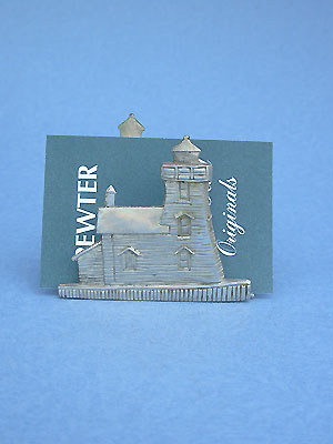 Lighthouse Business Card Holder - Lead Free Pewter