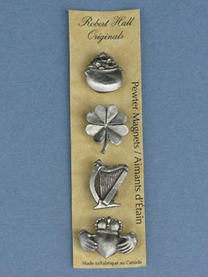 Irish - Set of 4 Magnets - Lead Free Pewter