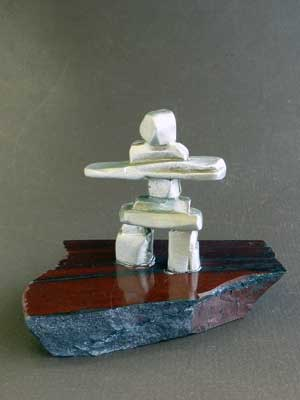 Inukshuk on Canadian Iron Ore