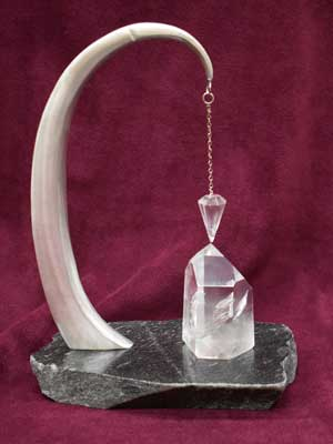 Pewter & Crystal with Pendulum