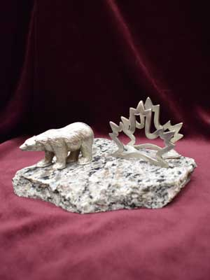 Maple Leaf & Polar Bear Business Card Holder