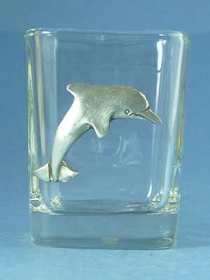 Dolphin Shot Glass - Lead Free Pewter