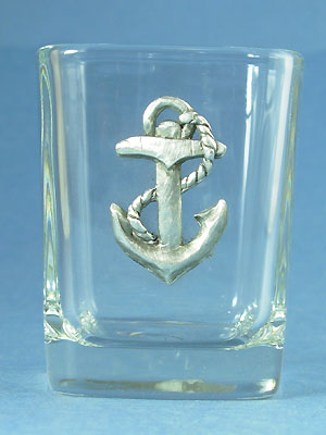 Anchor Shot Glass - Lead Free Pewter