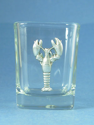 Lobster Shot Glass - Lead Free Pewter