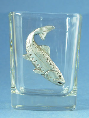 Salmon Shot Glass Lead Free Pewter