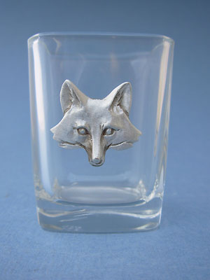 Fox Head Shot Glass - Lead Free Pewter