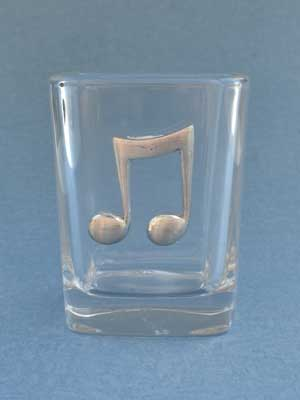 Music Note Shot Glass - Lead Free Pewter