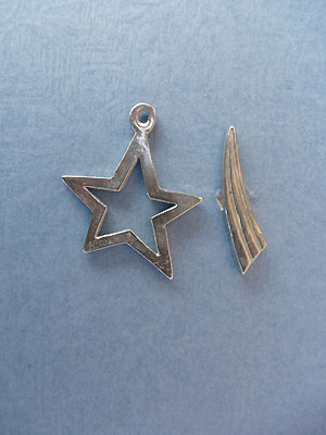 Shooting Star Toggle - Lead Free Pewter
