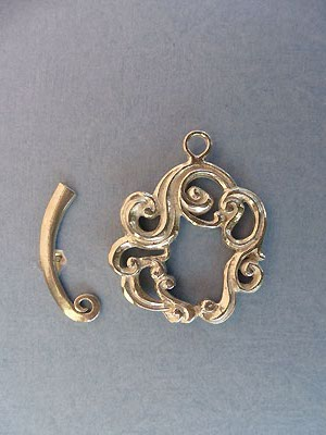 Round Scroll Toggle - Lead Free Pewter