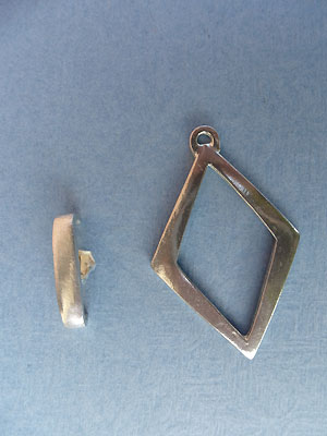 Diamond Toggle - Lead Free Pewter