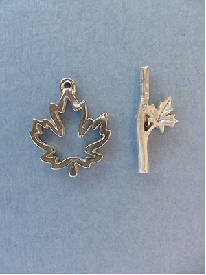 Maple Leaf Toggle - Lead Free Pewter