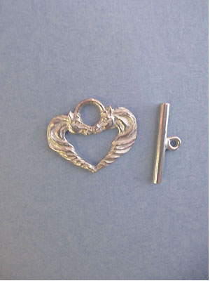 Horse Heart Toggle - Lead Free Pewter