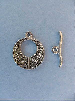 Decorative Circle Toggle - Lead Free Pewter