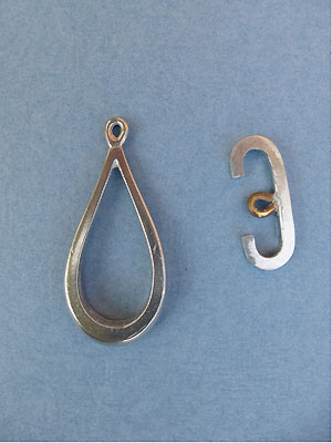 Large Teardrop Toggle - Lead Free Pewter