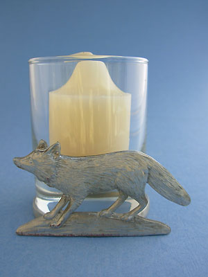 Fox Two Piece Votive Holder - Lead Free Pewter